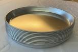 صواني البيتزا / صواني الخبز / صواني الخبز الألومنيوم جديد 10 قطع 220x30mm